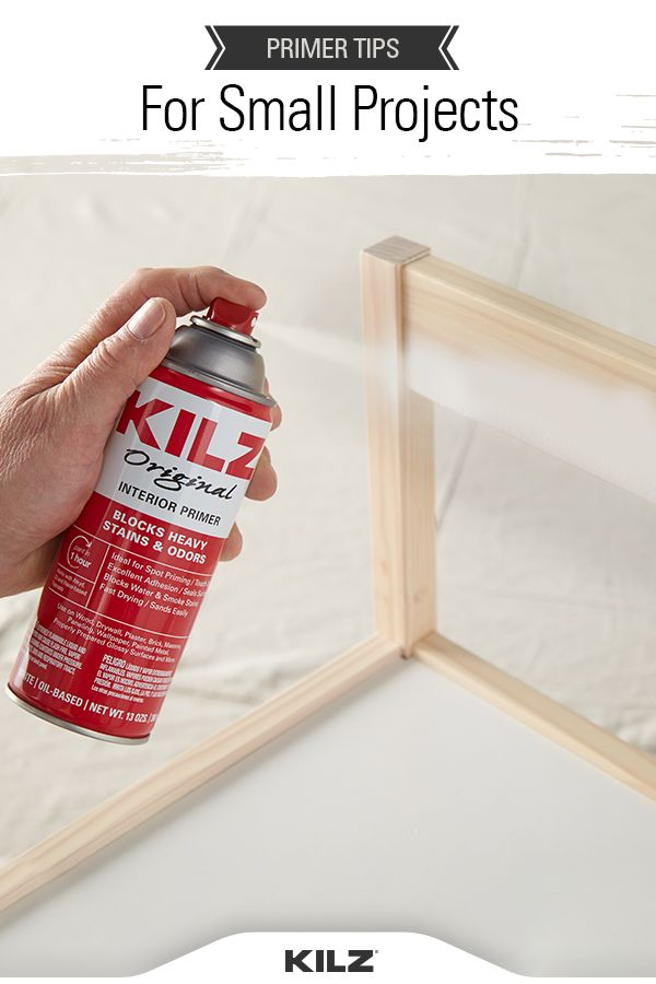 Primers For Small Projects The Perfect Finish Blog By Kilz Kilz Projects Primer