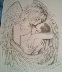 Angel with Baby by pinkprincess77