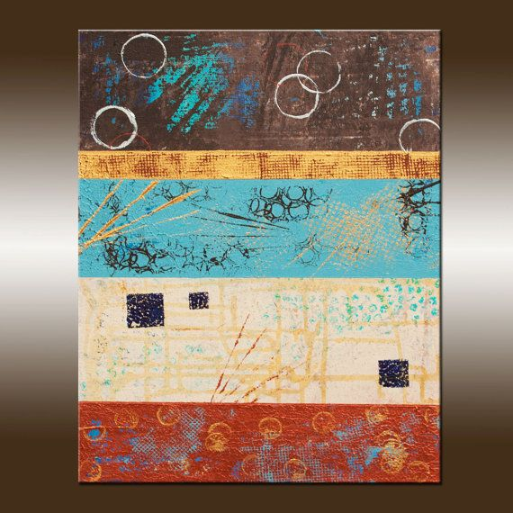 Title: Elements 9 - 14x18 Inch Original Fine art Painting, Modern, Canvas Wall Art, Contemporary