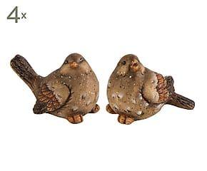 Set de 8 pájaros decorativos de cerámica                                                                                                                                                     Más