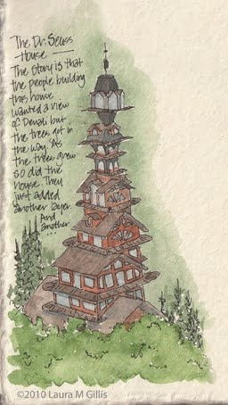 The Dr Seuss House the house in Alaska got my attention so I looked up the story hope you like it....I did.