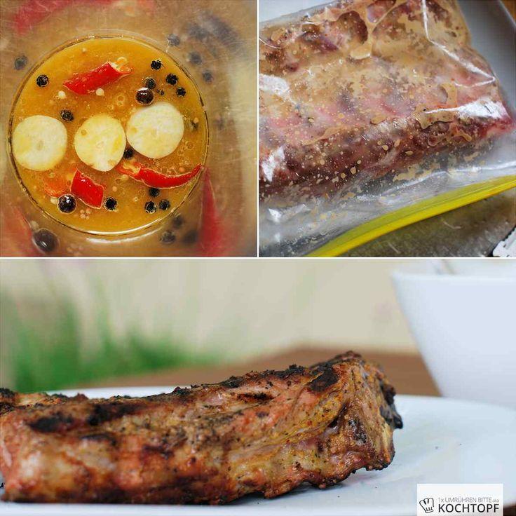 Mariniertes Schweinerippchen vom Grill