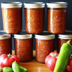 Our favorite salsa for canning--so you can enjoy the flavors of summer all year!