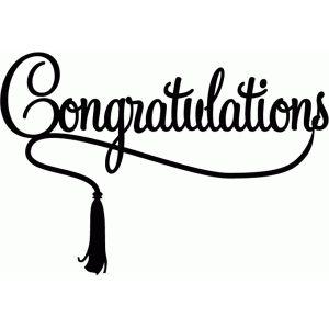 Silhouette Design Store: congratulations with tassel