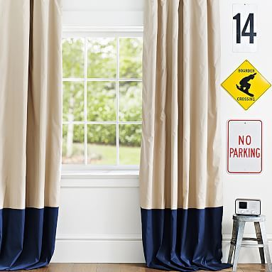 Classic Border Blackout Drape #pbteen for Jesse's room