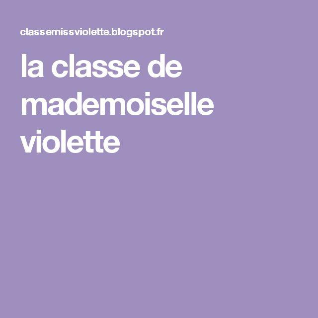 la classe de mademoiselle violette