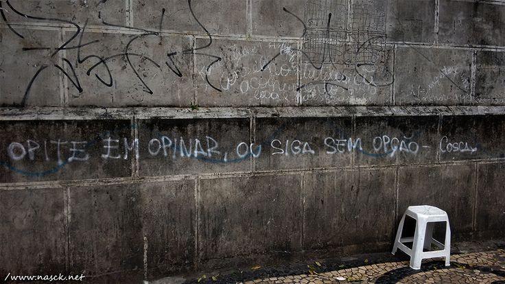 Pixo fotografado por mim (Nasck) na Av. Sete de Setembro/Salvador/BA