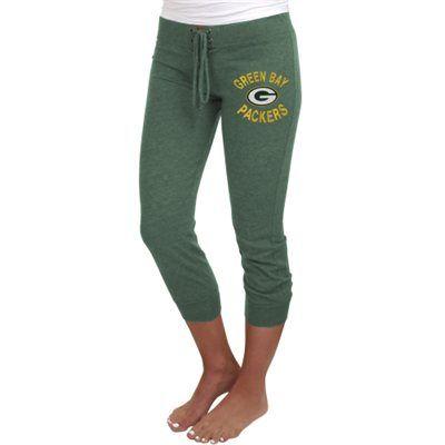 Green Bay Packers Ladies Fourth Down Tri-Blend Capri Pants - Green Size XL