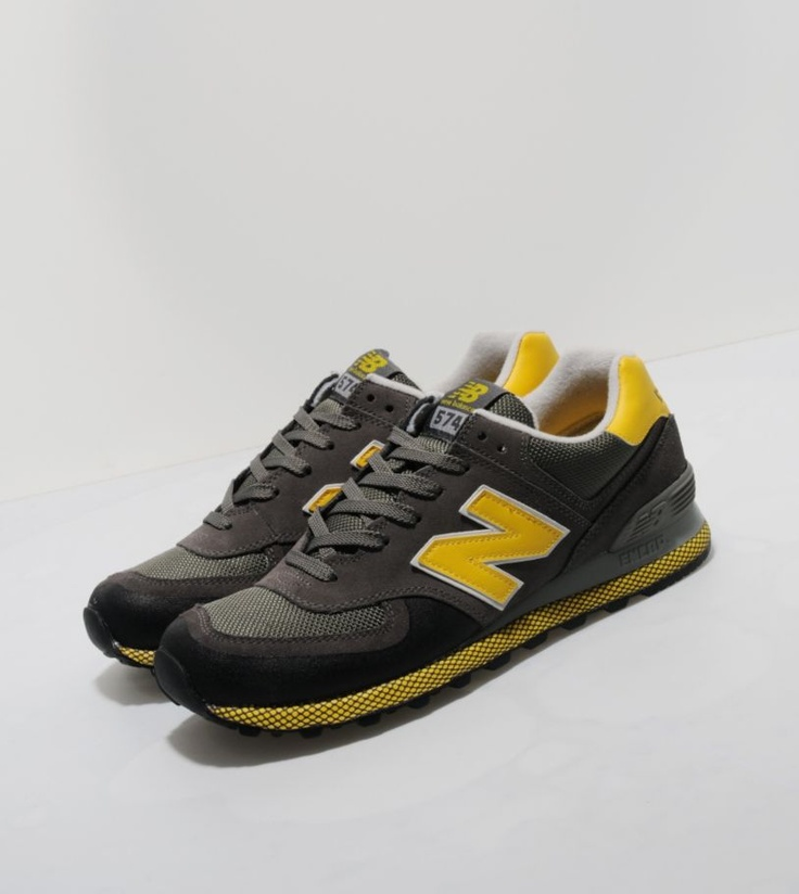 New Balance 574 Hike Grey Black Yellow