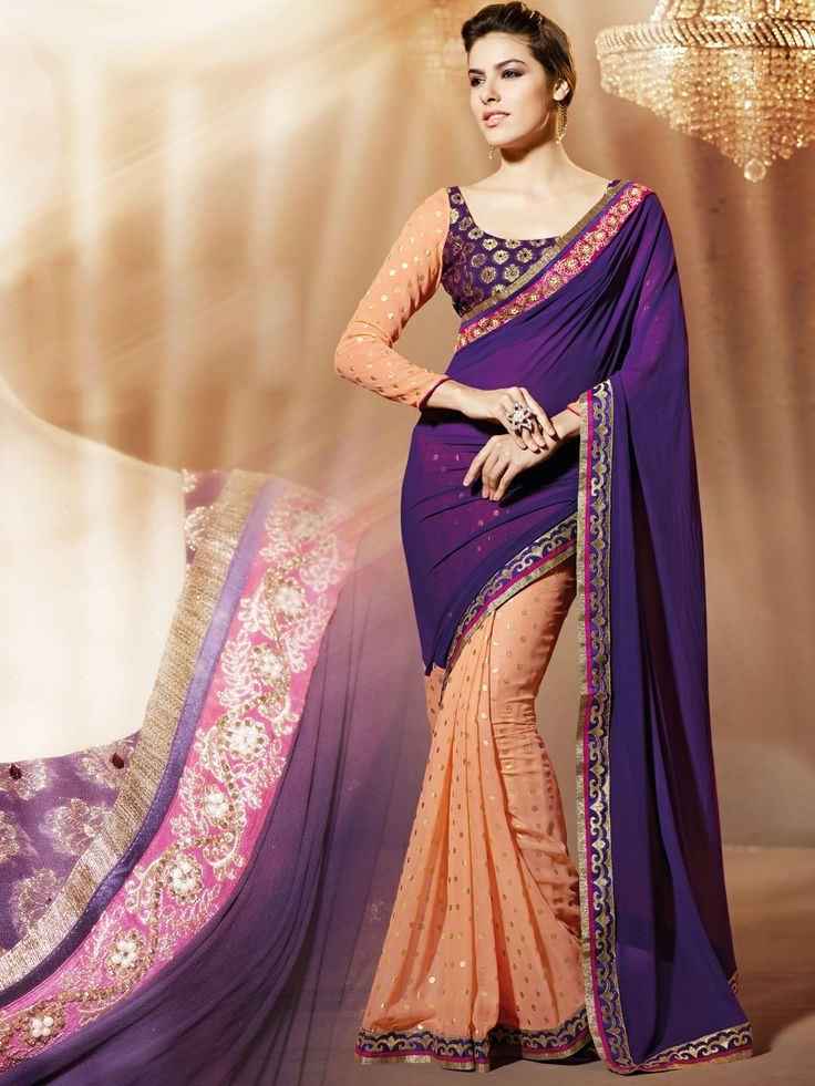 17 Best Images About Party Wear Sarees On Pinterest | Printed Sarees Party Wear Sarees And Fashion