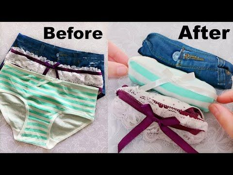 (11) Over 10 Amazing Folding Clothes Life Hacks will Save Your Room - YouTube