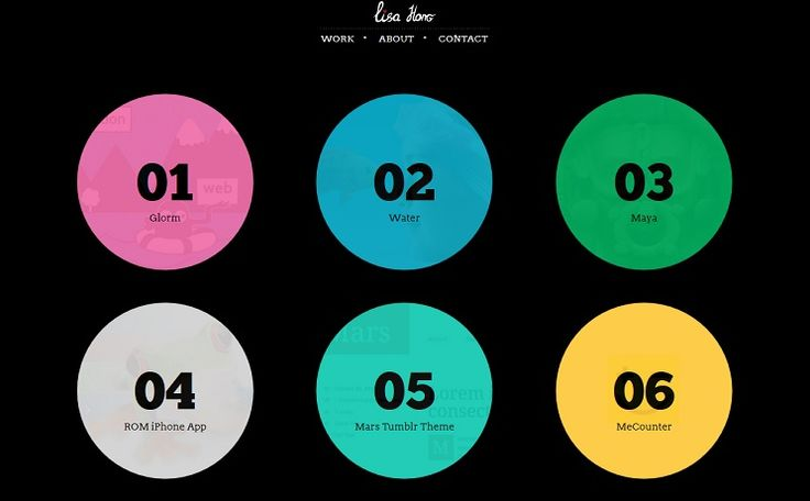 30 Awesome Examples of Circular Elements in #Web #Design