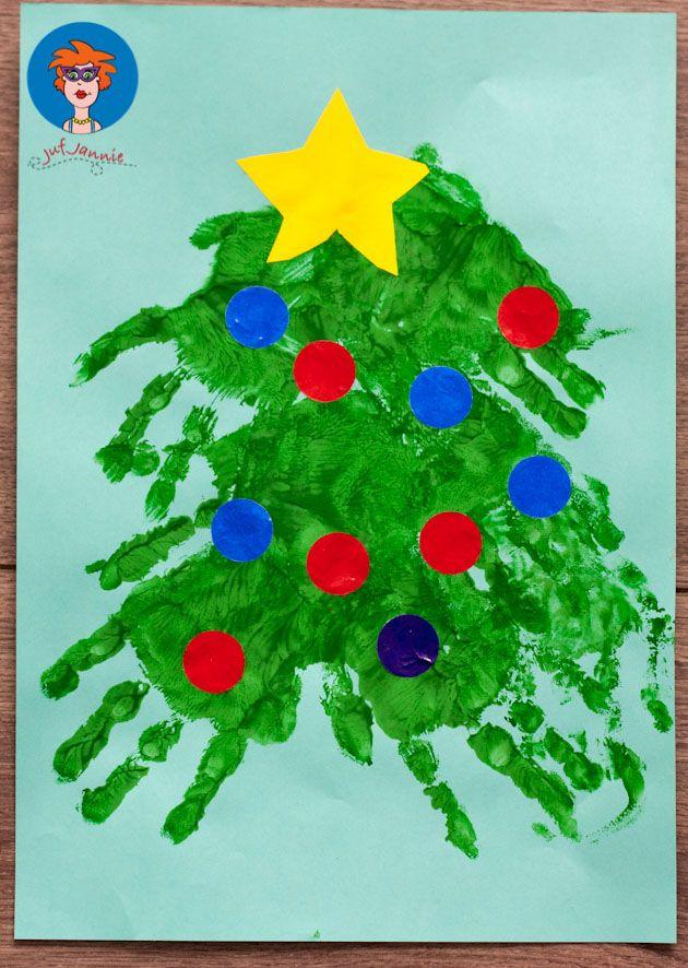Kerstboomhandje - knutselen