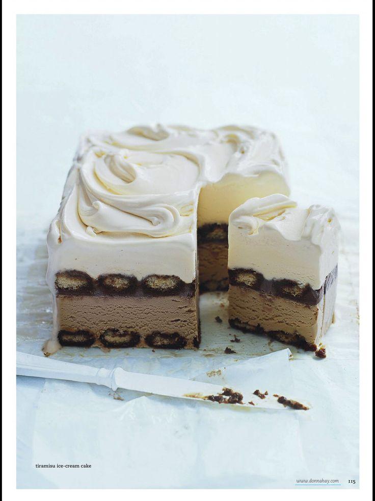 Tiramisu ice cream cake, Donna Hay