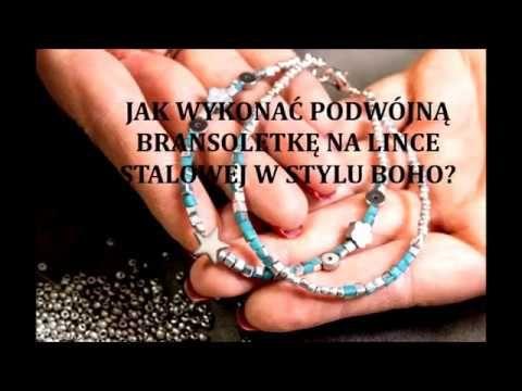 Jak wykonać podwójną bransoletkę na lince stalowej w stylu boho? How to make a double bracelet on boho steel cable?