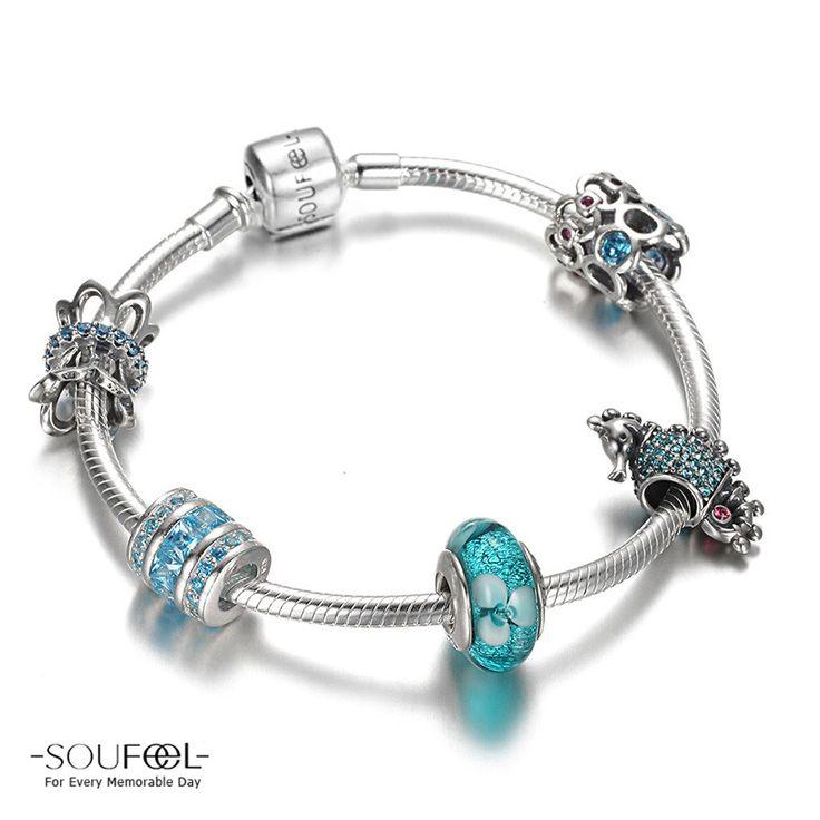 Sea World Charm Bracelet 925 Sterling Silver Shop->http://www.soufeel.com/sea-world-charm-bracelet-925-sterling-silver.html