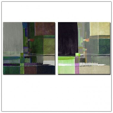 "Trademark Global Squares by Miguel Paredes, Canvas Art - 19"" x 14"" - MP11189-C1824GG"