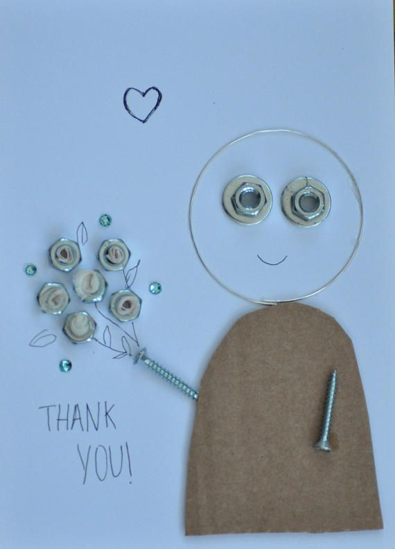 Hey, I found this really awesome Etsy listing at https://www.etsy.com/uk/listing/548062040/metal-thankyou-card-with-bunch-of