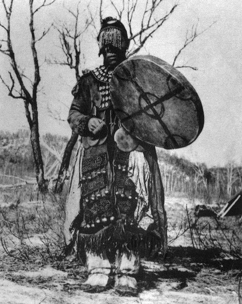 eurasian-shamanism: Photo of an Oroqen shaman from 1959