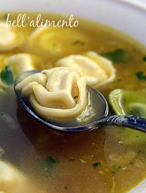 Tortellini in Broth -yummmo! Was one of our saturday night dinners growing up!