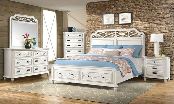 Mystic Bay White Pine Poplar King Storage Bedroom Bedroom