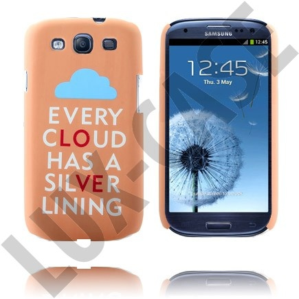 """Deksel til Samsung Galaxy S3 - """"Every Cloud has a silver lining"""""""