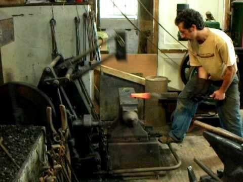Blacker Blacksmiths power hammer at Meadow Forge