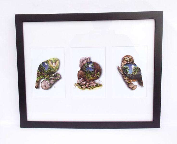 Sophie+Blokker+NZ+Nocturnal+Birds+Art+Print