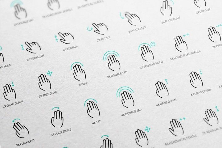 50 free gesture icons by Wassim
