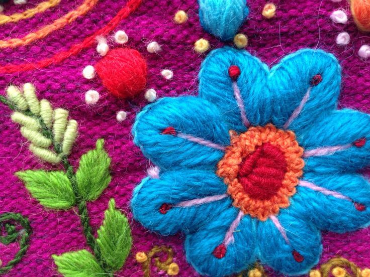 soft alpaca runner embroidered with graceful flowers and leafs finished with multicolored tassels gorgeous at your dinner table or as a bed runner the - PIPicStats Hand Embroidery Flowers, Silk Ribbon Embroidery, Crewel Embroidery, Embroidery Hoop Art, Embroidered Flowers, Cross Stitch Embroidery, Embroidery Patterns, Mexican Embroidery, Hungarian Embroidery