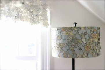 This creative handmade lampshade, also available on Etsy, is adorned with vintage-map scraps.