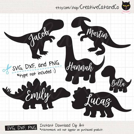 Dinosaur Silhouette SVG Files for Cricut or Silhouette Cute
