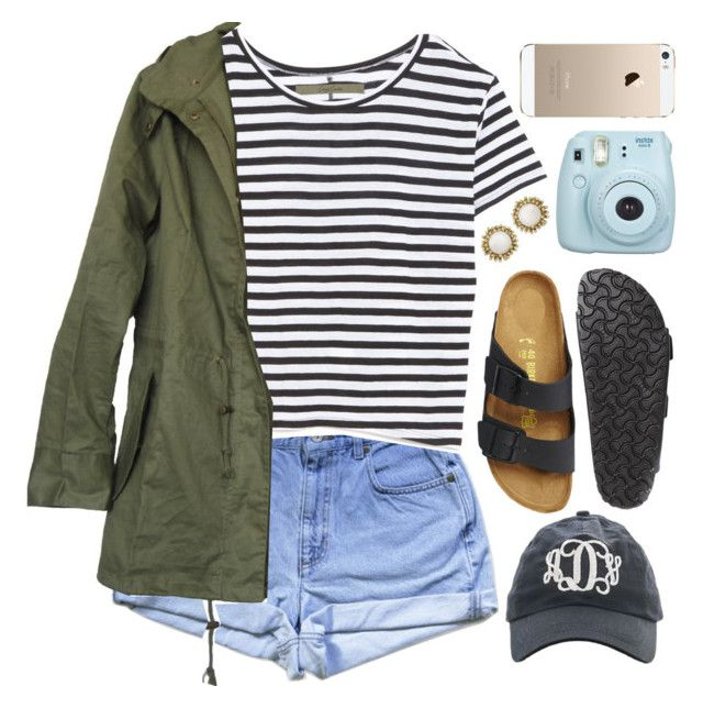 """""""is it too late now to say sorry"""" by hey-its-kylee ❤ liked on Polyvore featuring Enza Costa, Birkenstock and Kendra Scott"""