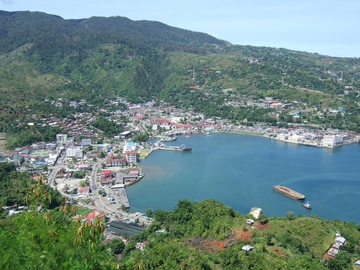 JAYAPURA CITY,PAPUA,INDONESIA IN THE MORNING