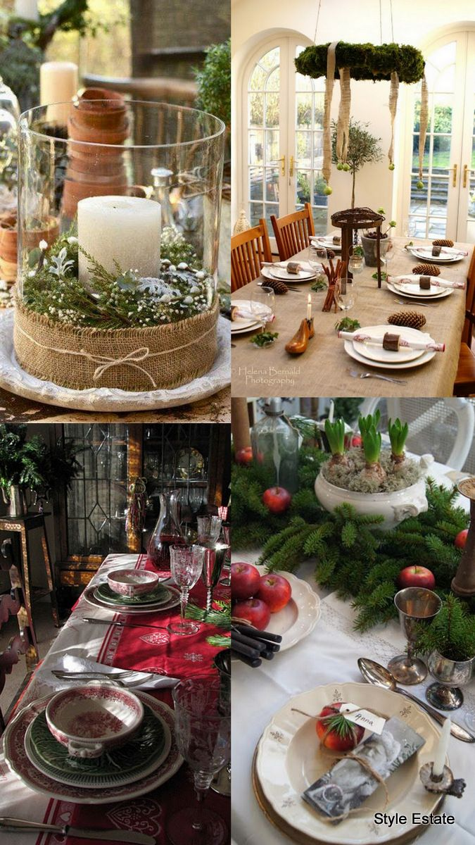 2013 #Christmas Table Roundup Part 2 - Christmas Decorating -Top Left Front Hall Table
