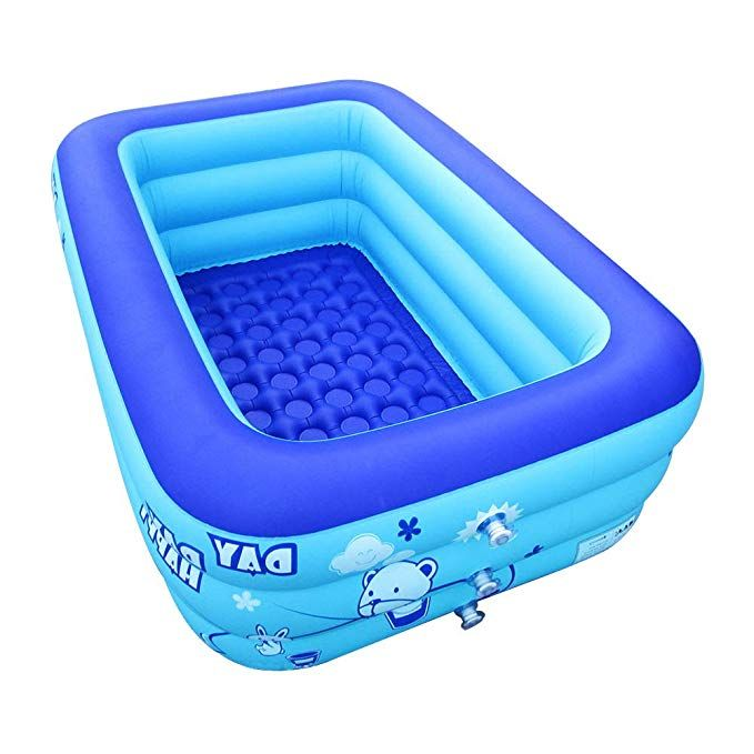 Ecoinva Inflatable Swimming Pool Hot Tubs Bathtubs Inflated Tubs With Electric Air Pump Inflator Swimming Pool Hot Tub Inflatable Pool Inflatable Hot Tubs