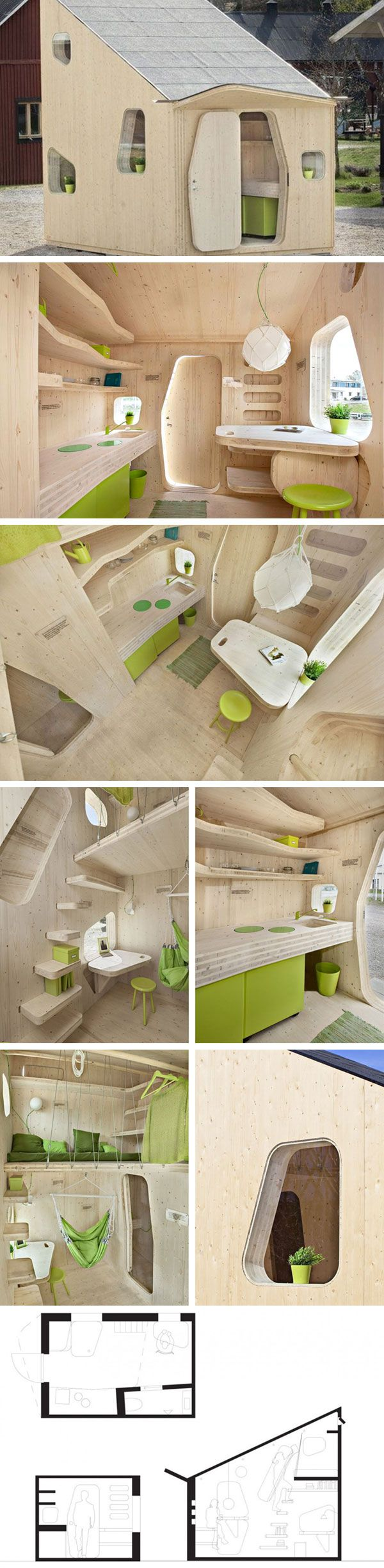 Экологичный домик для студентов от Tengbom Architects #tinyhomesdigest  #tinyhouse #smallhouse #ecohouse #. Student FlatsBackyardsArchitectsStudents