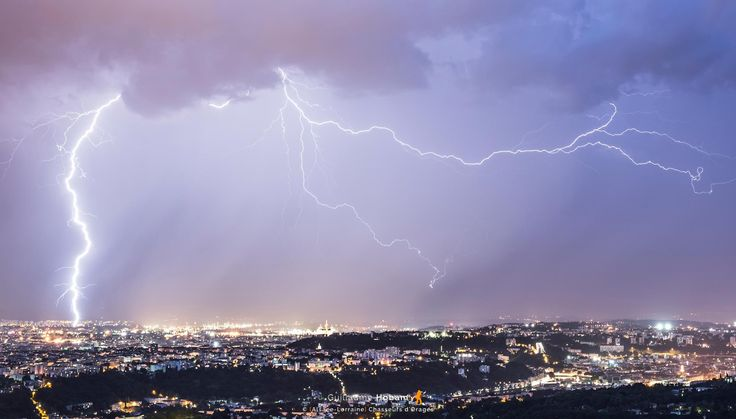 Reportage photo : Lyon et la Bourgogne sous la foudre le 27 juin , par Guillaume Hobam - KERAUNOS Observatoire français des tornades et orages violents