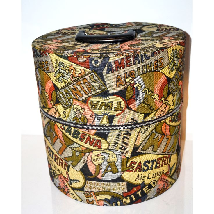 Vintage Hat Box/Carry-All Airlines By Munro