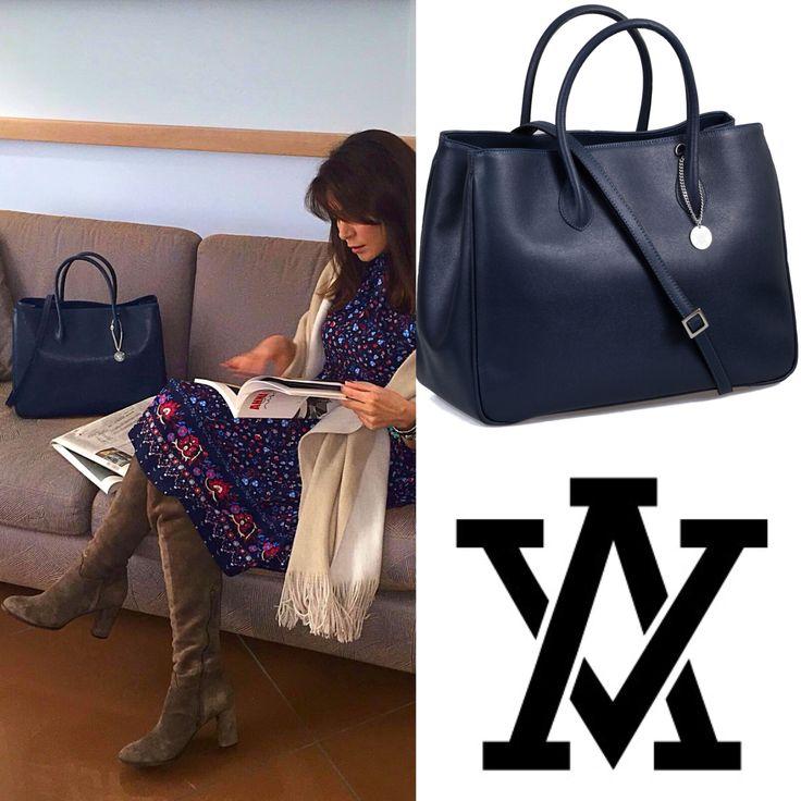 Code: millano grande blue   italian leather handbags