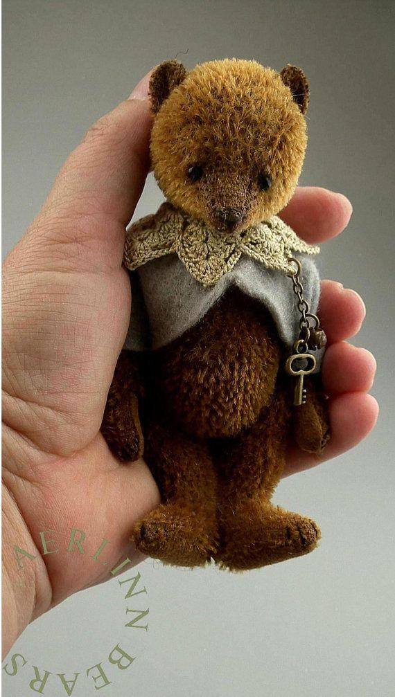 One Of a Kind Miniature Mohair Artist Teddy Bear by aerlinnbears