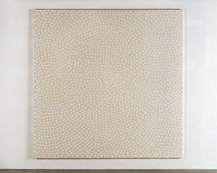 günther uecker - nterferenzen, 2009, chalk and glue on canvas, 300 x 300 cm