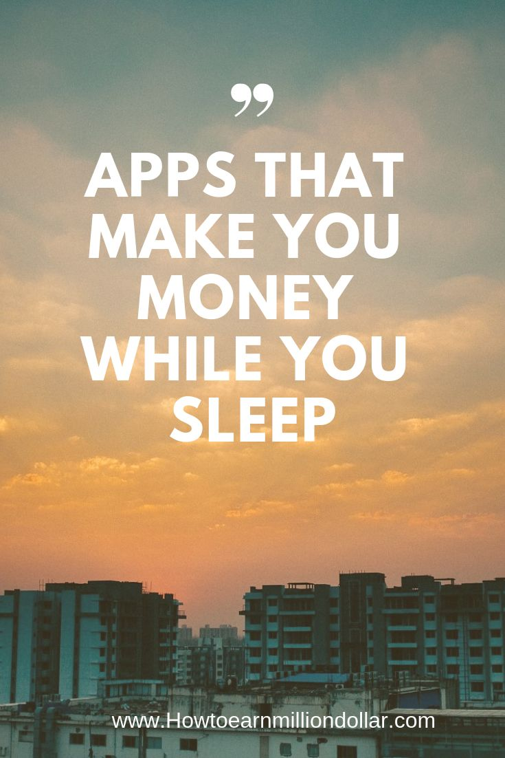 Doesnt it sound crazy make money while you sleep well