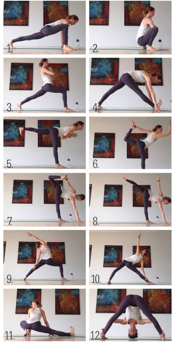 Yoga for Runners, Hips and Hamstrings Sequence. #Running #Yoga #Hamstrings