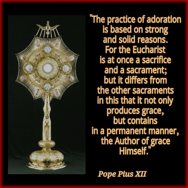 The graces of the Eucharist