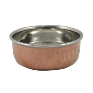 Cobre sirviendo Bowl Set de 2 Katoris para la comida de la India: Amazon.es: Hogar