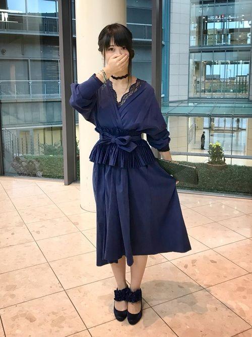 青だらけ。 友達の結婚式用に色々とアレンジして作ったドレス。 結婚式は最高に沁みました。全て手作り。