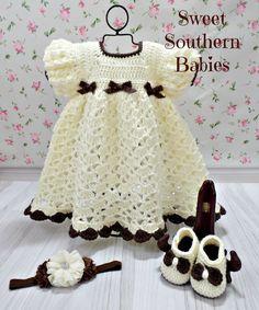 Bebé y primavera Vestido de niño chica a juego con diadema de flores y arco de Mary Jane zapatos - recién nacido a 2 años - Semana Santa - primavera - verano