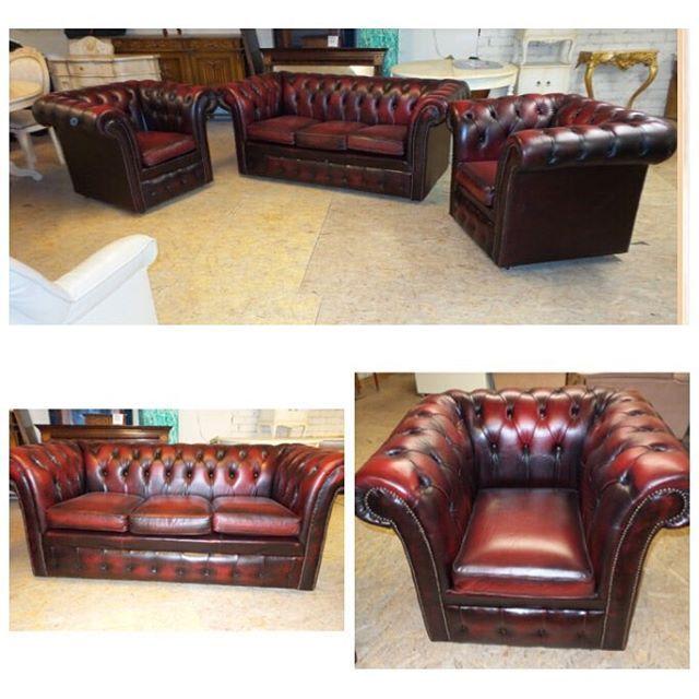Классический набор красных честерфилд- 3 местный диван и два кресла с высокой спинкой🍷🎩винтаж💰💰199 000 руб💰💰