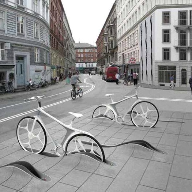 Cool bike parking